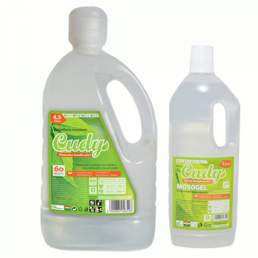 Cudy illat és allergénmentes folyékony mosószer  (4,5 liter)
