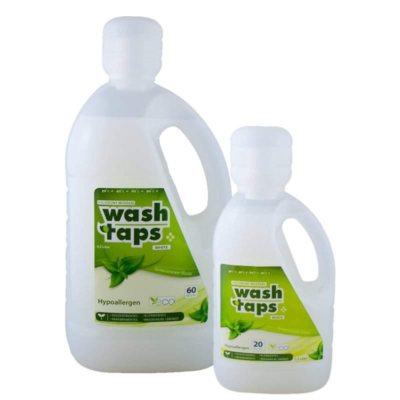 Wash Taps folyékony mosószer, mosógél white (1,5 liter)