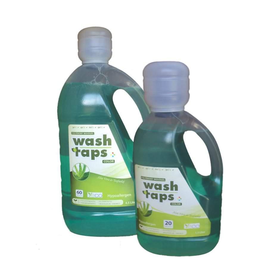 Wash Taps folyékony mosószer, mosógél color (Aloe Vera, Teafaolaj) (1,5 liter)