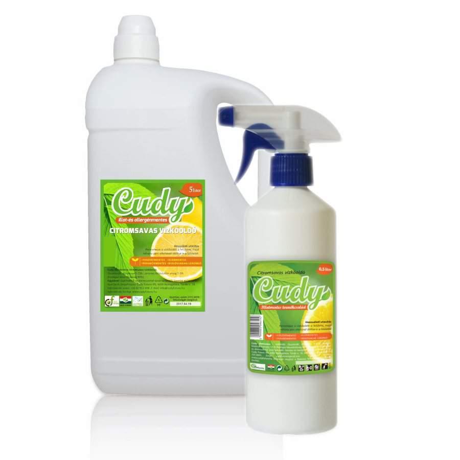 Cudy illatmentes, citromsavas vízkőoldó  (5 liter)