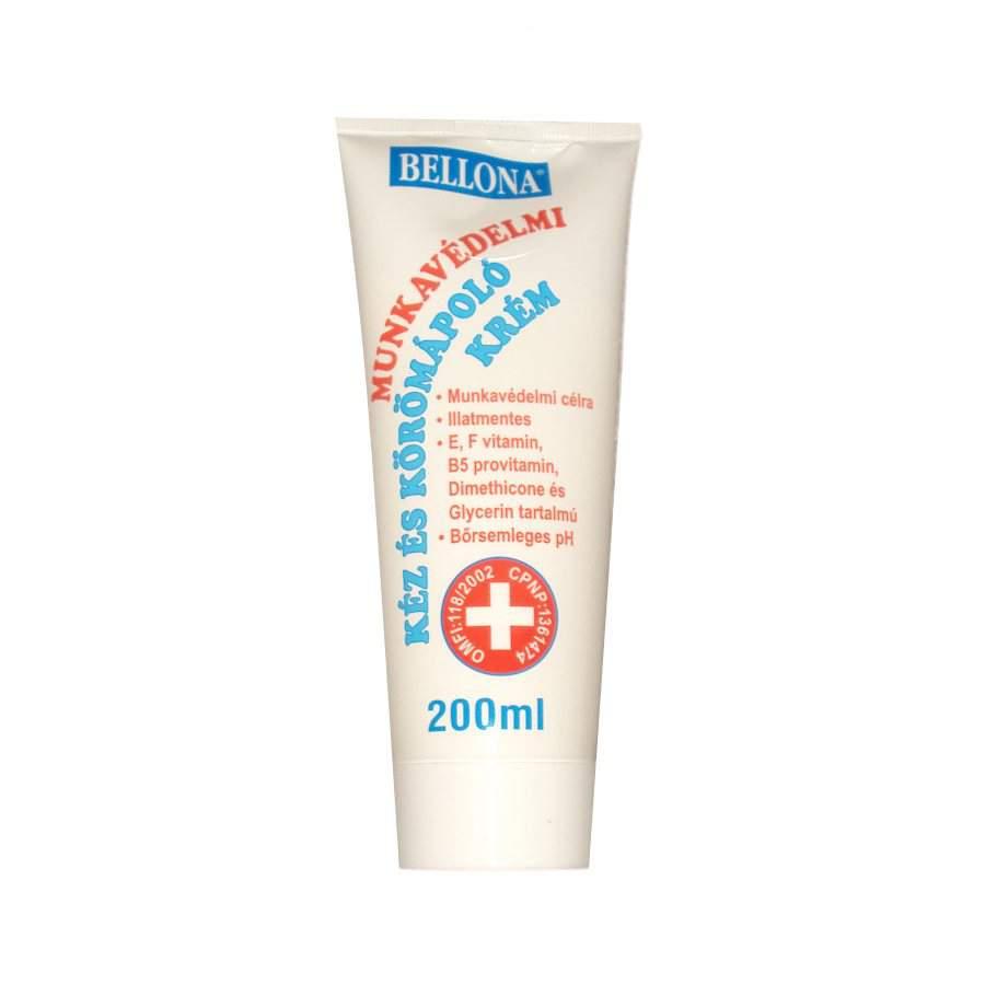 Bellona illatmentes munkavédelmi kéz és körömápoló krém. (200 ml)
